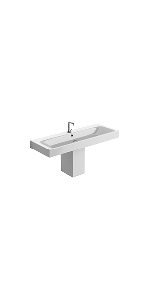 3534_3575 - One hole bidet with  hemlock legs, Semi-pedestal