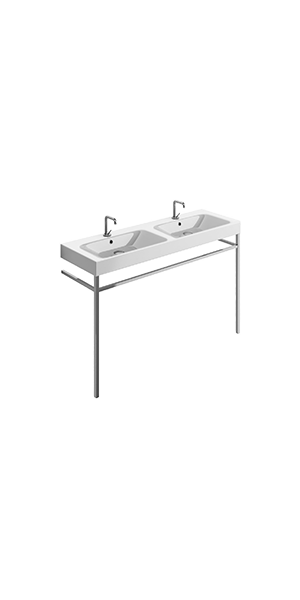3536_9124 - double basin 140x45 with free standing unit