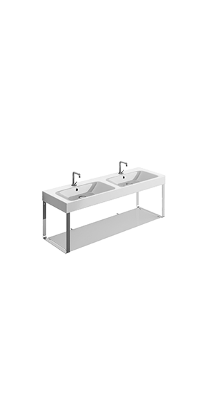 3536_9128 - double basin 140x45 with Wall hung