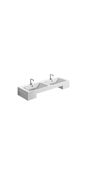 3536_9129 - double basin 140x45,  drawer