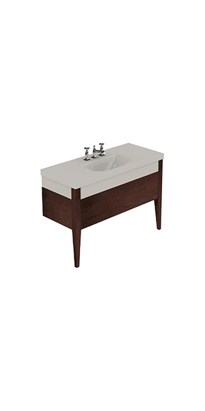 3932_917347 - Washbasin with Darkened ash draw unit and legs