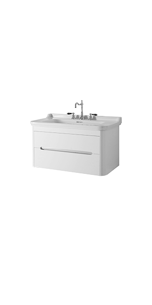 4142_9192 - washbasin 100 with wall hung cabinet