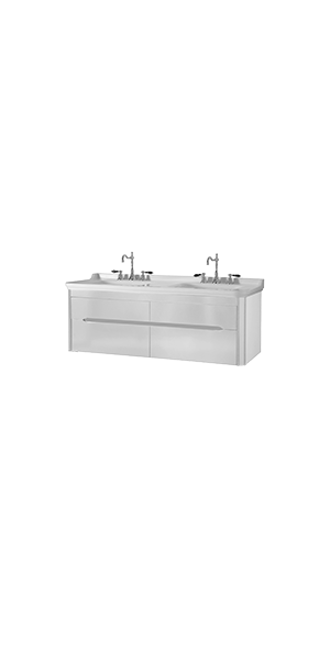 4143_9191 - washbasin 150 with wall hung cabinet