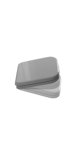 4188 01 - White resin polyester toilet seat and cover SOFT CLOSE.