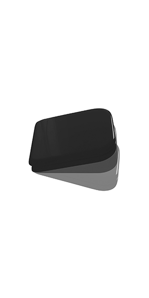 4188 04 - Glossy black resin polyester toilet seat and cover SOFT CLOSE.