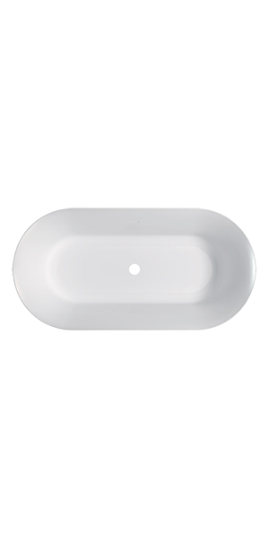 7433 - G&M oval polymineral bathtub