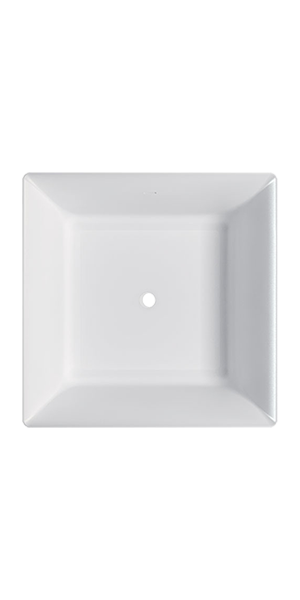 7438 - G&M square polymineral bathtub
