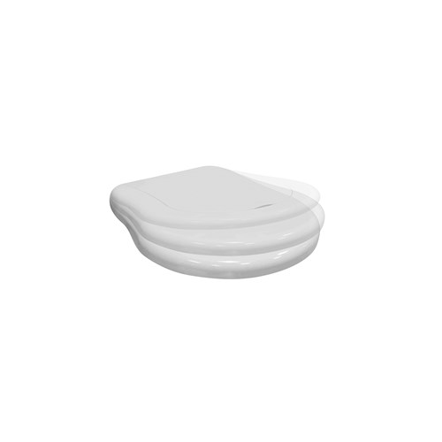 White toilet seat and cover SOFT CLOSE.