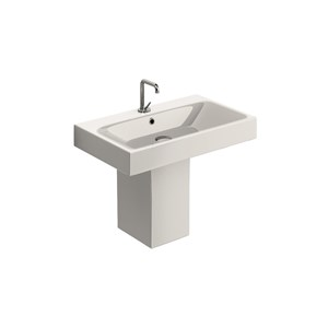washbasin 70x45, Semi-pedestal