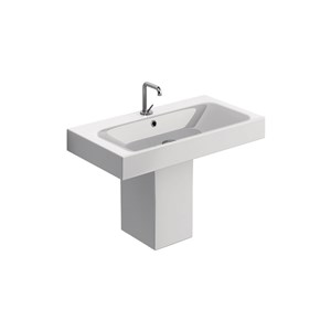 washbasin 80x45, Semi-pedestal