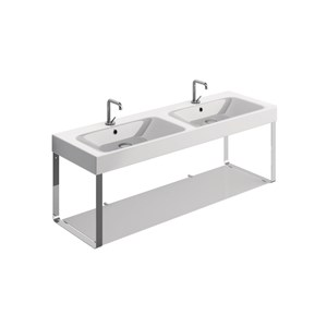 double basin 140x45 with Wall hung