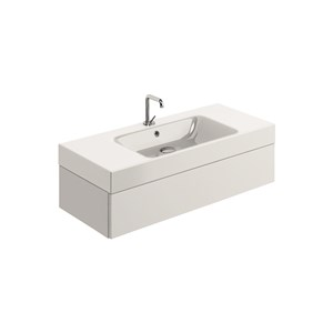 washbasin 100x45 whit Wall mounted cabinet w/1 drawer
