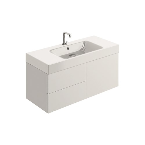 washbasin 100x45 whit Wall mounted cabinet w/2 drawers