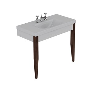 Washbasin with set of 2 darkened ash legs