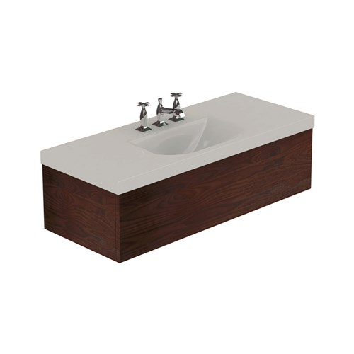 Washbasin with Darkened ash draw unit