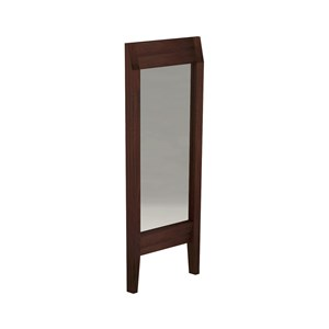 Floor standing mirror with darkened ash