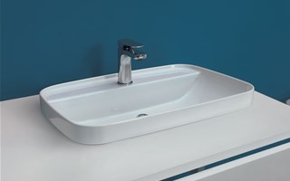 The versatility and variety of squared washbasins