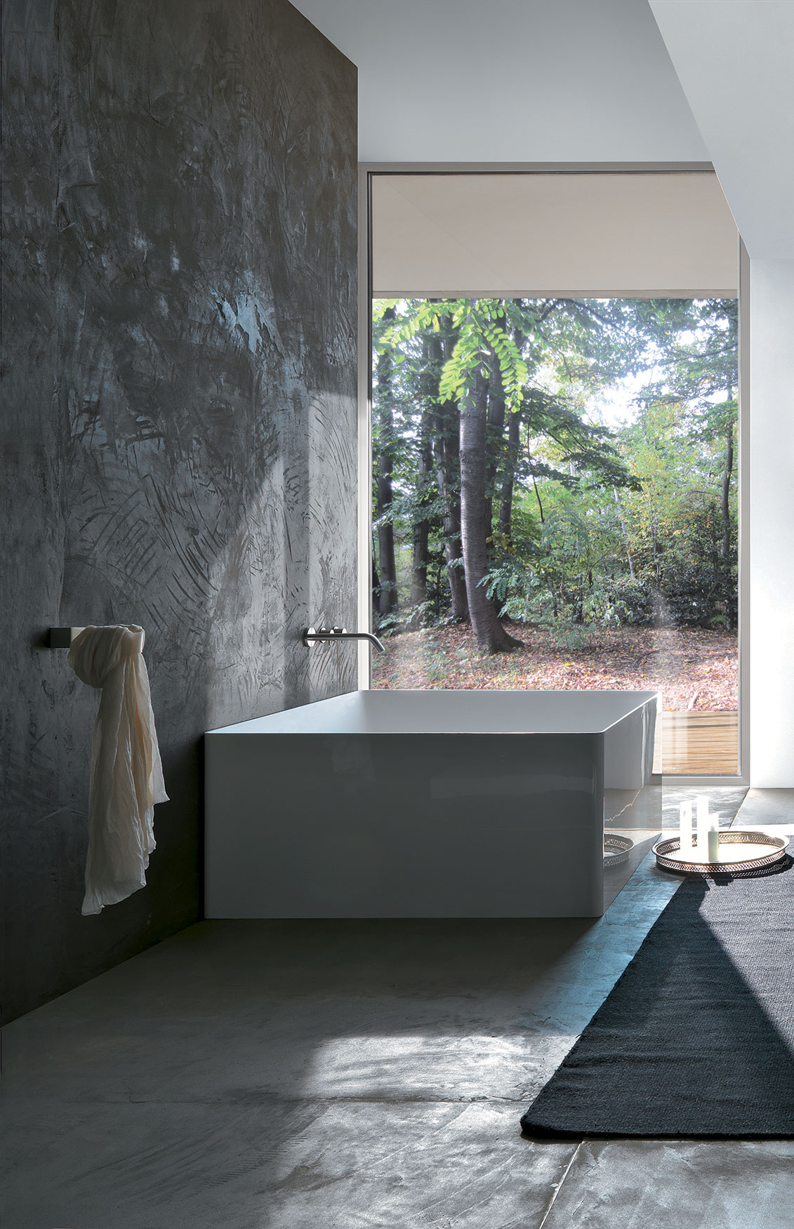 Square Polymineral Bathtub G Amp M