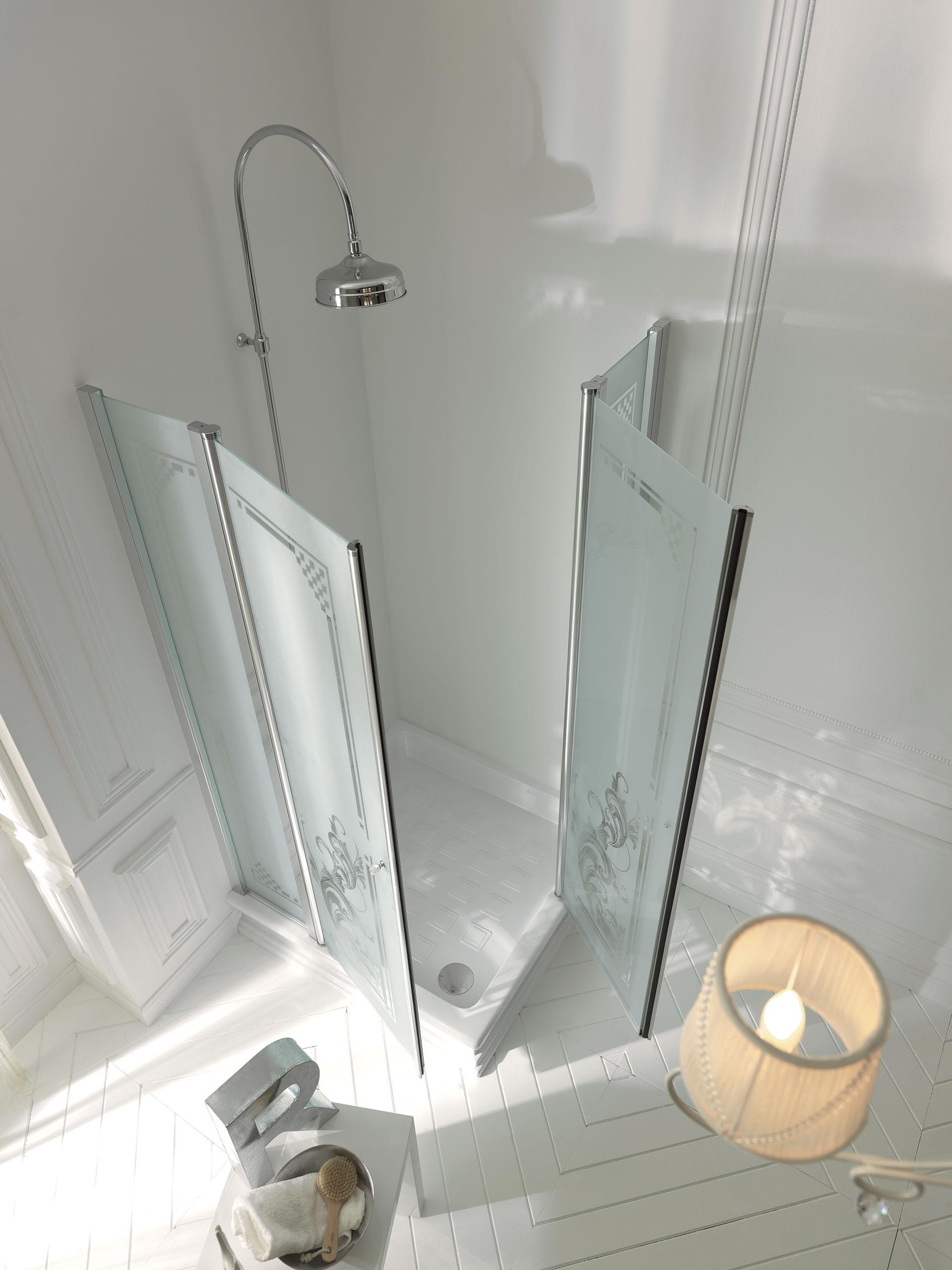 Corner shower tray 100x100 - Rubinetteria bagno bianco oro ...